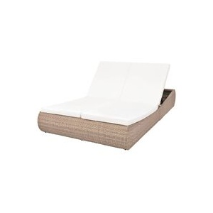 Outdoor-Sonneninsel Poly Rattan Beige - Youthup