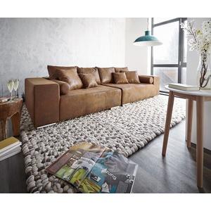 DELIFE XXL-Couch Marbeya mit Kissen Bigsofa braun
