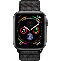 Apple Watch Series 4 (GPS) 40mm Aluminiumgehäuse space grau mit Loop Sportarmband schwarz