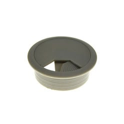 Kabeldurchlaß 60 mm grau Kabeldurchführung Kabeldose Kabelführung Kunststoff