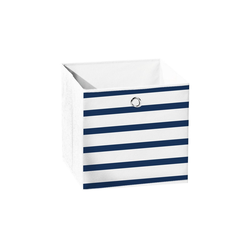 dynamic24 Aufbewahrungsbox, Motiv Textil Faltbox 31cm Marina Textil Aufbewahrung Box Faltkiste Textil-Box Maritim