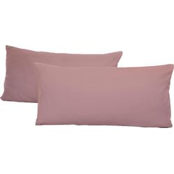 Schlafgut Kissenbezug Jersey, (2 St.), mit Aloe Vera Ausrüstung rosa Kissenbezüge gemustert Kissen