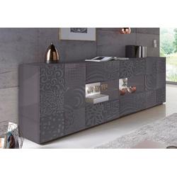 LC Sideboard Miro, Breite 241 cm mit dekorativem Siebdruck grau