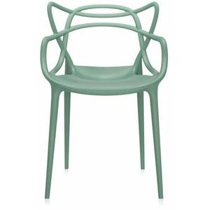 Kartell Stuhl Masters grün, Designer Philippe Starck, 84x57x47 cm
