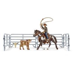 Schleich Farm World 41418 Team roping mit Cowboy 41418