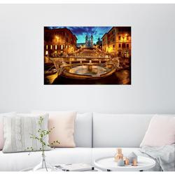 Posterlounge Wandbild, Spanische Treppe und Fontana della Barcaccia in Rom 90 cm x 60 cm