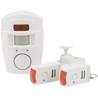 Olympia Bewegungsmelder mit Alarm (Kabellose Alarmanlage 105 dB Alarm Fernbedienung, Drahtloser Bewegungssensor mit Batterie IR Haus-Alarm für Innen Alarmsystem Wohnwagen Wohnmobil Caravan