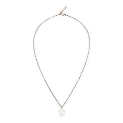 Halskette - rosévergoldet - Krone