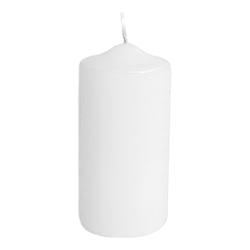 Stumpenkerze Ø 60 x 120 mm, 30 Stunden Brenndauer, weiß
