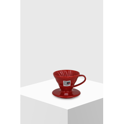 Hario Coffee Dripper V60 01 Ceramic red Kaffeefilter