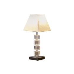 HOMCOM Tischleuchte Tischlampe mit Kristallsockel