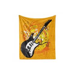Foulard Gemütlicher Plüsch für den Innen- und Außenbereich, Abakuhaus, Gitarre Lackierung von Curls Strudel 175 cm x 230 cm