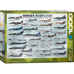 empireposter Puzzle Moderne Kampfflugzeuge - 1000 Teile Puzzle im Format 68x48 cm, Puzzleteile