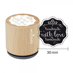 Woodies Stempel - Handmade with Love W05004