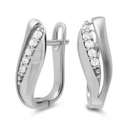 Moderne Ohrringe 925er Silber Zirkonia