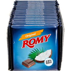 Romy Kokosschokolade 200 g, 18er Pack