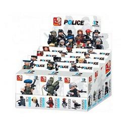 Sluban Actionfigur Sluban Minifiguren in Box Polizei [M38-B0586] zufällige Auswahl Neu, (1-tlg)