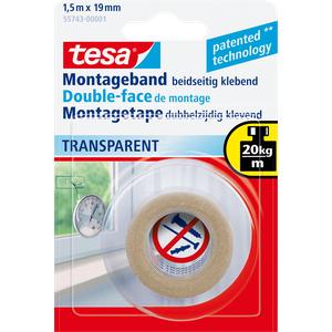 TESA 55743 - Montageband tesa Powerbond® Transparent, 1,5 m x 19 mm