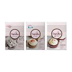 PRINCESS CUPCAKES Backmischung für Teig & Frosting, 3 Sorten für 36 Cupcakes Inhalt 1.483g