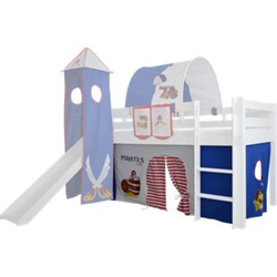 3tlg. Vorhang Set Höhle Pirat für Hochbett Spielbett Vorhänge Kinderbett