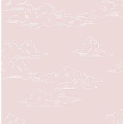 Vliestapete Vintage Cloud Pink , 10 m x 53 cm pink
