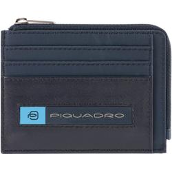 Piquadro PQ-Bios Kreditkartenetui 11.5 cm blue