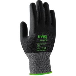 Uvex Handschuhe C300 Wet Plus Unisex 9, Schwarz/Grün