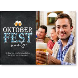 Einladungskarten Oktoberfest (10 Karten) selbst gestalten, Oktoberfestparty - Grau