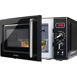 Privileg Mikrowelle »364354«, Grill, 700 W, im Retro-Design, 8 Automatikprogramme, Mikrowelle, 364354-0 schwarz schwarz