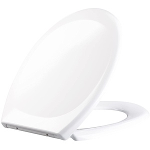BadeStern Toilettendeckel: Universal-WC-Sitz, O-Form, Absenkautomatik, antibakteriell beschichtet (WC Deckel)