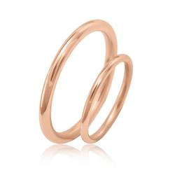 Minimalistische Eheringe aus Gold Alays