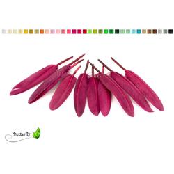 Creativery Bastelfedern, 10 Indianerfedern ca. 10-15cm rot