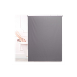 relaxdays Duschrollo Duschrollo grau Breite 120 cm 120 cm x 240 cm
