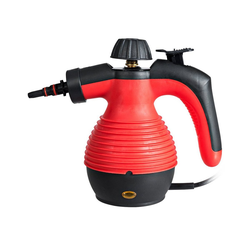 COSTWAY Handdampfreiniger Dampfreiniger, Dampfreinigen Handgerät, mit 9 Zubehörteilen, 3 bar / 350ml / 1050W / 3-5min Aufheizzeit rot