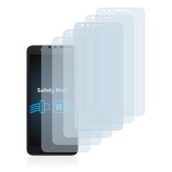 Savvies Schutzfolie für Alcatel Avalon V, (6 Stück), Folie Schutzfolie klar