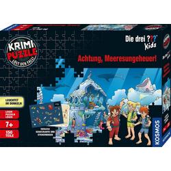 Kosmos Puzzle Krimipuzzle Die drei ??? Kids Achtung, Meeresungeheuer!, 150 Puzzleteile, Made in Germany