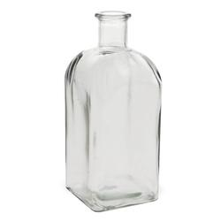 matches21 HOME & HOBBY Blumentopf Vase Flasche Eckig Glas Flasche Glasvase Blumenvase 10,5 cm (1 Stück) 10.5 cm x 28 cm