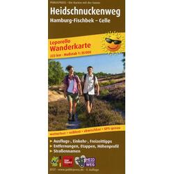 Wanderkarte Heidschnuckenweg Hamburg-Fischbek - Celle 1 : 35 000