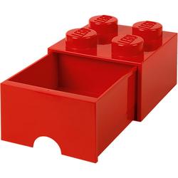LEGO Aufbewahrungsbox 4er rot mit Schublade, 25 x 25 x 18 cm