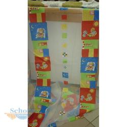 Stores Gardine Stoff Vorhang Ausbrenner Kinder Bär transparent, Reststück 4 m