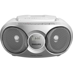 Philips AZ215S CD-Radio UKW CD Silber