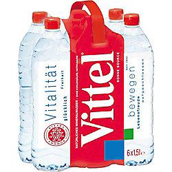 Vittel Mineralwasser 6 Flaschen à 1.5 L EINWEG