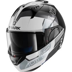 Shark Evo-One 2 Slasher, Modularhelm - Weiß/Schwarz/Silber - XS