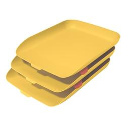 Briefkorb »Cosy« 3er-Set gelb, Leitz, 27.4x12 cm