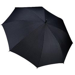 Esprit Regenschirme Gents Long AC Regenschirm - needle stripe black