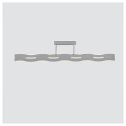Lutec Deckenleuchte LED Wave Nickel-Matt, Chrom