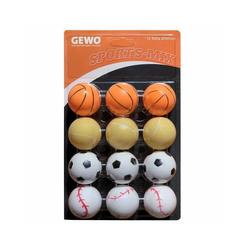 Gewo Tischtennisball GEWO Ball Sports-Mix 12er bunt