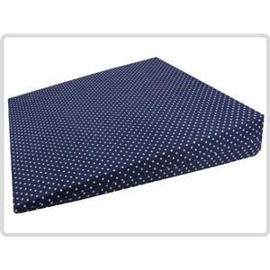 Orthopädisches Keilkissen 100 % Baumwollbezug! - Kissen Sitzkissen Sitzkeilkissen Sitzkissen Sitzkeil (Blau mit weißen Punkten)