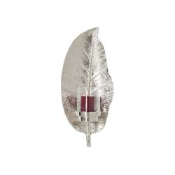 KARE Kerzenständer Kerzenhalter Leaf Silber