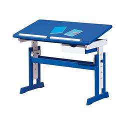 Inter Link Schreibtisch ABC Schreibtisch TITJE, höhenverstellbar, blau